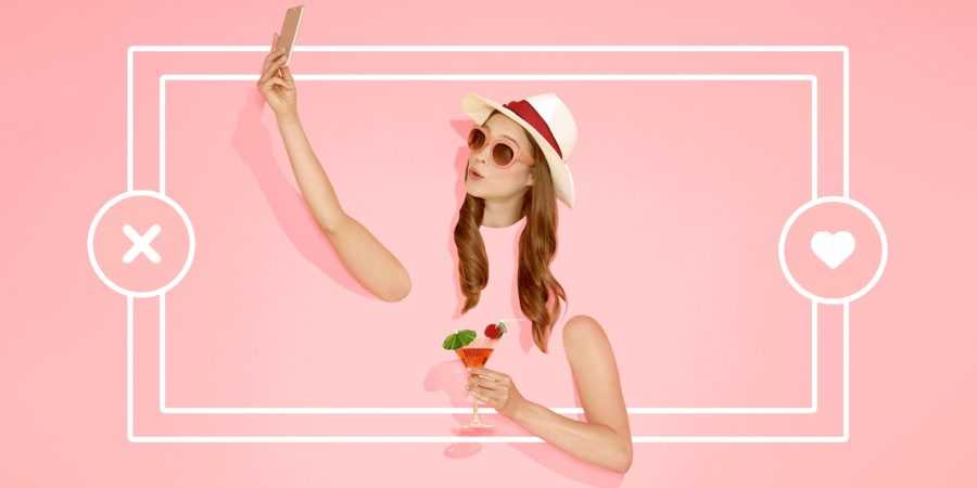 девушка на розовом