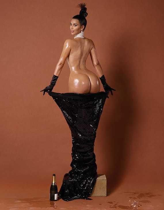 Интимная фото сессия Ким Кардашян