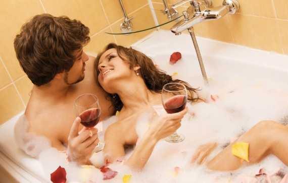 любовное свидание в ванной