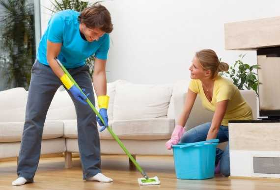 Совместная уборка сближает мужчину и женщину