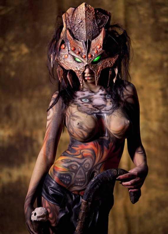 фантастическая девушка - боди арт