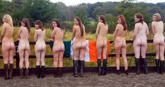 толпа голых баб в ирландии