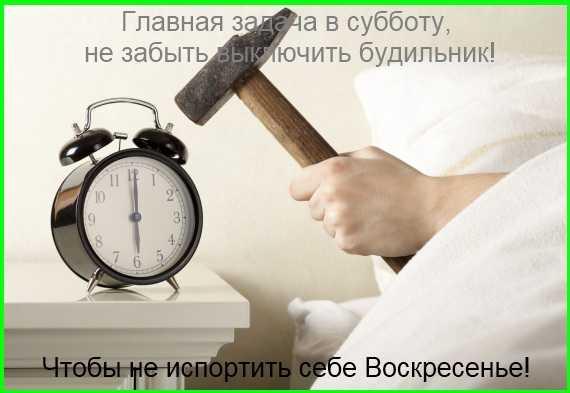не забудь выключить будильник