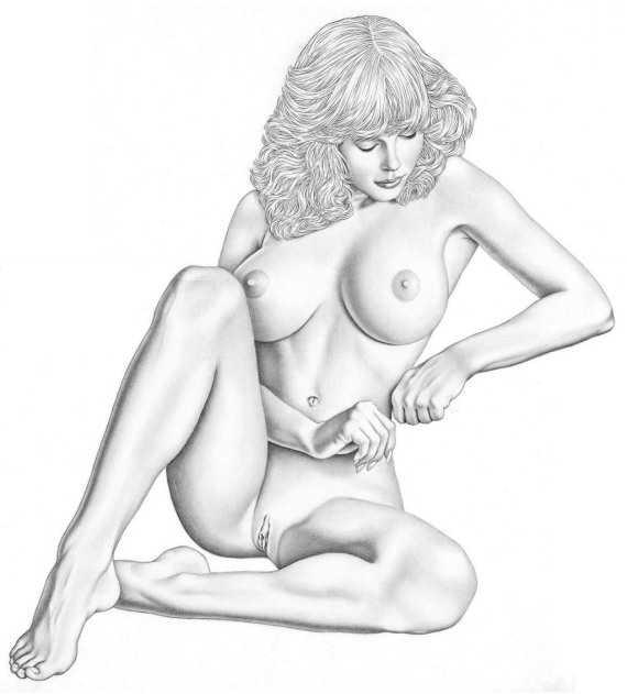 рисунок девушки - 145