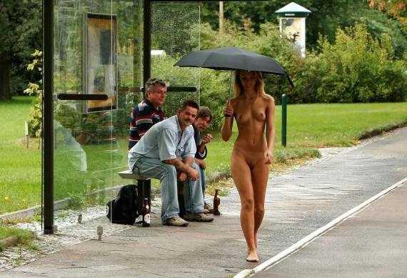и зачем обнаженной зонтик
