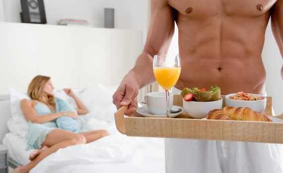 Любовь - это завтрак в постель